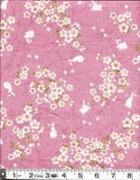 BUNNIES IN CHERRY BLOSSOM LANDSCAPE - Pink