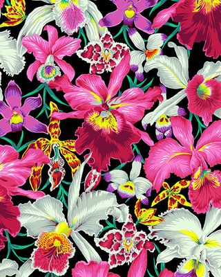 Orchids - Kaffe Fassett Collective - Black