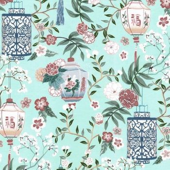 PAGODA DREAMS: Lanterns - Mint Green