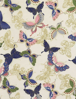 PATTERNED BUTTERFLIES - Sakura Collection - Cream