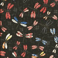 PATTERNED DRAGONFLIES: Black