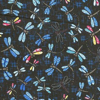 PATTERNED DRAGONFLIES: Navy Blue