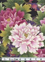 PEONY GARDEN - Purple/Gold Metallic - BTY