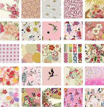 """PINK & WHITE ASIAN - 5"""" CHARM PACK"""