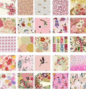 """SOLD OUT! PINK & WHITE ASIAN - 5"""" CHARM PACK"""