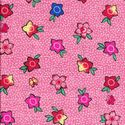 PRETTY LITTLE FLOWERS: Pink Cotton Dobby