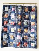 Quilt with Indigo Katagami Fabrics by Sandra in NY
