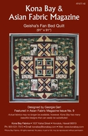"""GEISHA'S FAN BED QUILT"" Kona Bay Pattern #42"