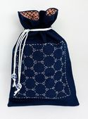 "SASHIKO DIY KIT: ""Tortoise Shell"" Drawstring Bag"