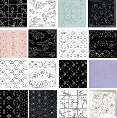 SASHIKO PANELS - Ready to Stitch