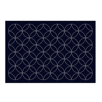 SASHIKO - Seven Treasures Placemat - Navy