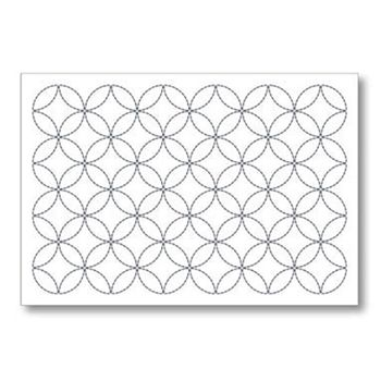 SASHIKO - Seven Treasures Placemat - White