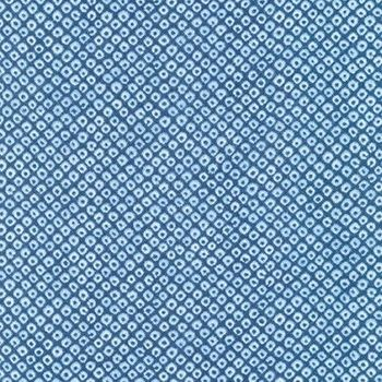 SHIBORI BLUES - Dots in Medium Blue