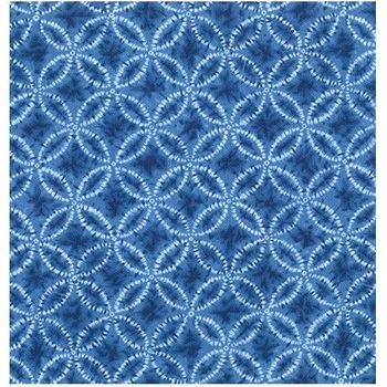 SHIBORI BLUES - Seven Treasures in Medium Blue
