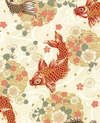SPIRITED KOI - Ivory/Gold Metallic