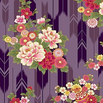 SUZUNE: Bouquets & Arrow Feathers - Purple/Gold