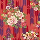 SUZUNE: Bouquets & Arrow Feathers - Red/Gold