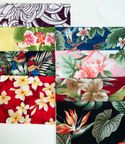 TROPICAL FABRICS BY THE BUNDLE C - 8 Pieces