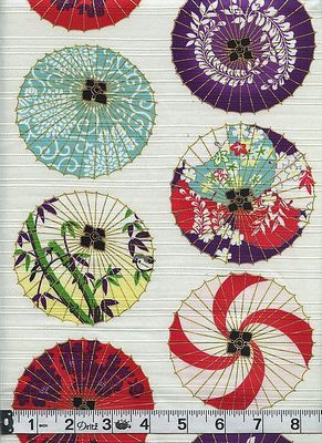 WAGASA - Traditional Umbrellas of Japan - White/Gold Metallic