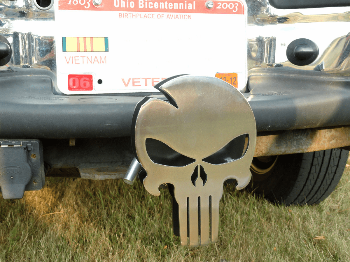 *NEW* Chrome Skull Hitch Cover