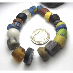 22 Rare Amazing Old Graduated Mixed Antique Trade Beads