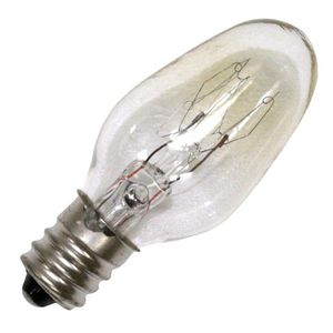 Satco 10C7, 10 Watt, Clear Incandescent Light Bulb