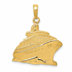 14K Cruise Ship Pendant
