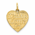 14K Daddys Little Girl Charm