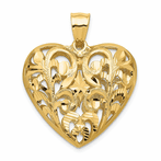 14K Fancy Heart Pendant