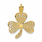 14K Filigree Shamrock Charm