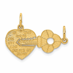 14K Heart & Key Break Apart Charm