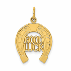 14K Horseshoe Good Luck Charm