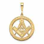 14K Large Masonic Pendant