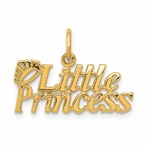 14K Little Princess Charm