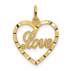 14K Love Heart Pendant