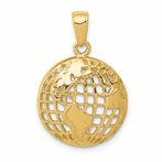 14K Polished Globe Pendant