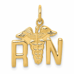 14K Registered Nurse Charm