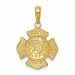 14K Small St. Florian Badge Pendant