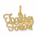 14K Together Forever Charm