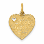 14K Very Special Aunt Charm