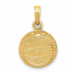 14K With Enamel Birthday Cake With Candle Inside Pendant