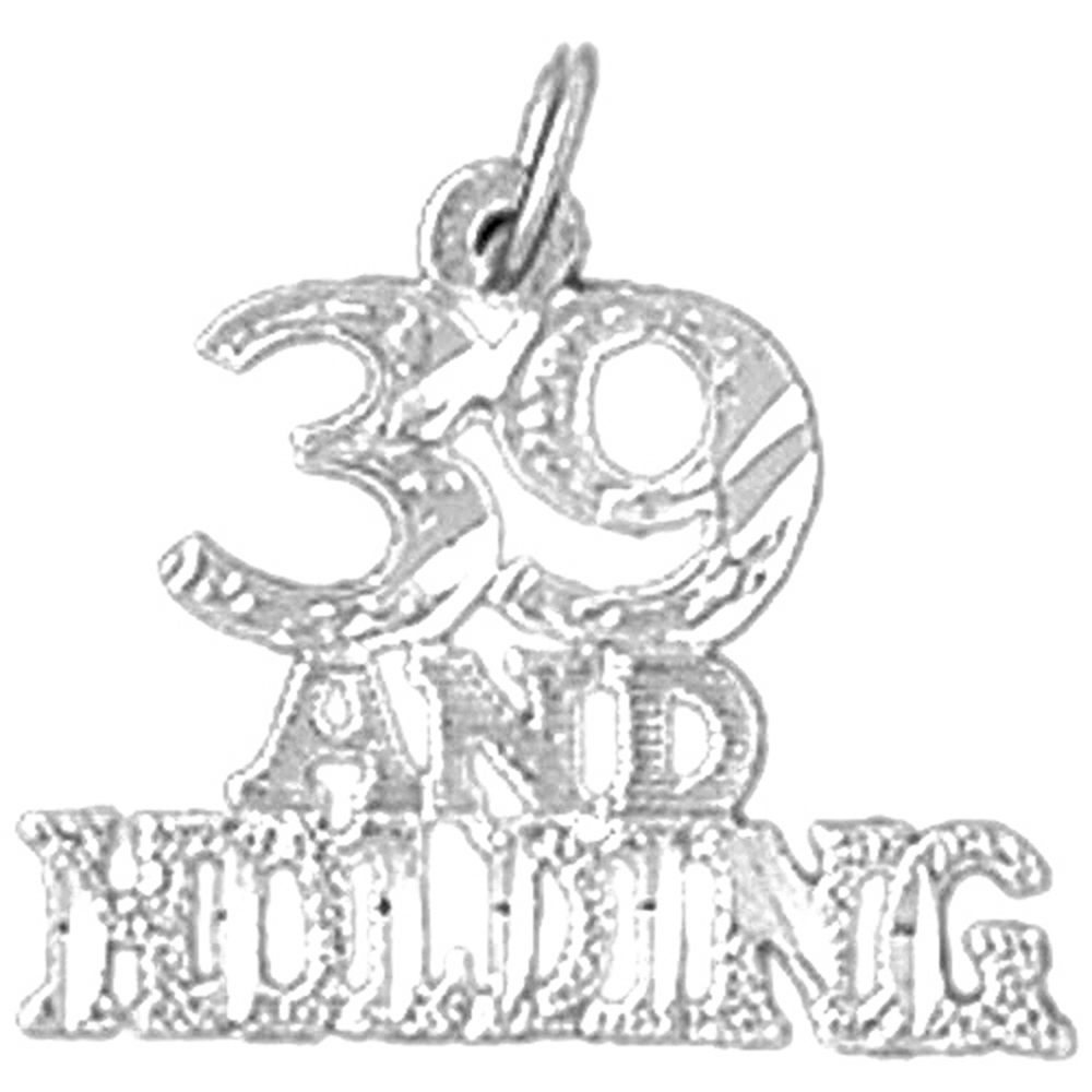 Rhodium-plated 925 Silver 39 /& Holding Thirty Nine /& Holding Pendant with 18 Necklace Jewels Obsession Silver 39 And Holding