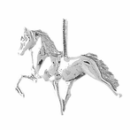 Sterling Silver 3D Horse Pendant (Rhodium, Yellow or Rose Gold-plated)