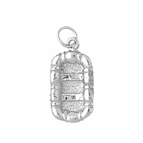 Sterling Silver 3D Raft Pendant (Rhodium, Yellow or Rose Gold-plated)