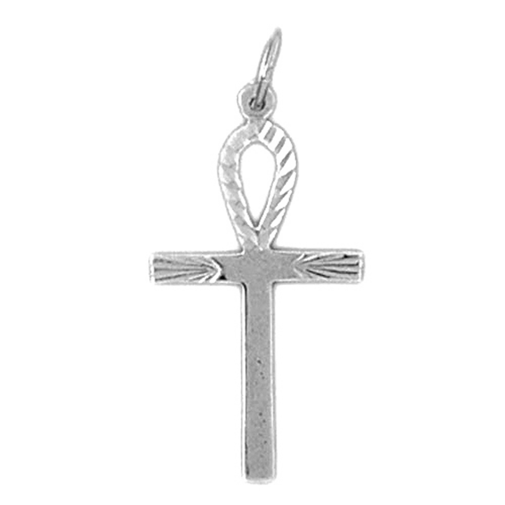 29 mm Jewels Obsession Cross Pendant Sterling Silver 925 Cross Pendant