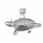 Sterling Silver Armadillo Pendant (Rhodium, Yellow or Rose Gold-plated)