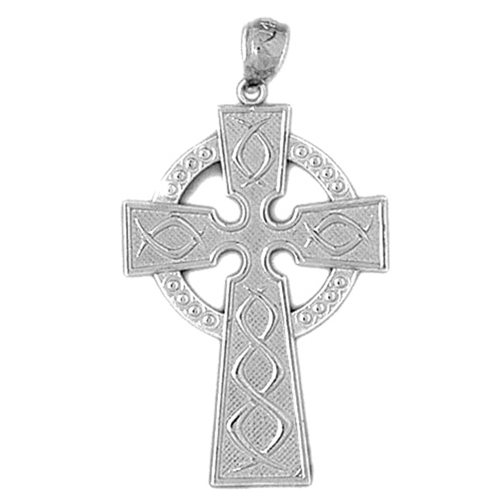 2a297da85 Sterling Silver 925 Celtic Cross Pendant | Sterling Silver Pendants at  JewelsObsession.com