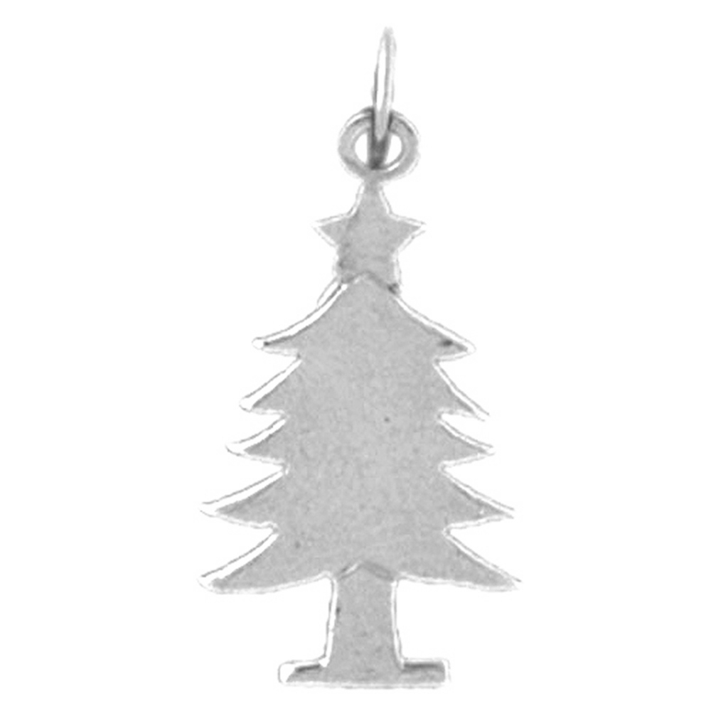 Sterling silver 925 christmas tree pendant sterling silver sterling silver christmas tree pendant rhodium yellow rose or black gold plated aloadofball Choice Image