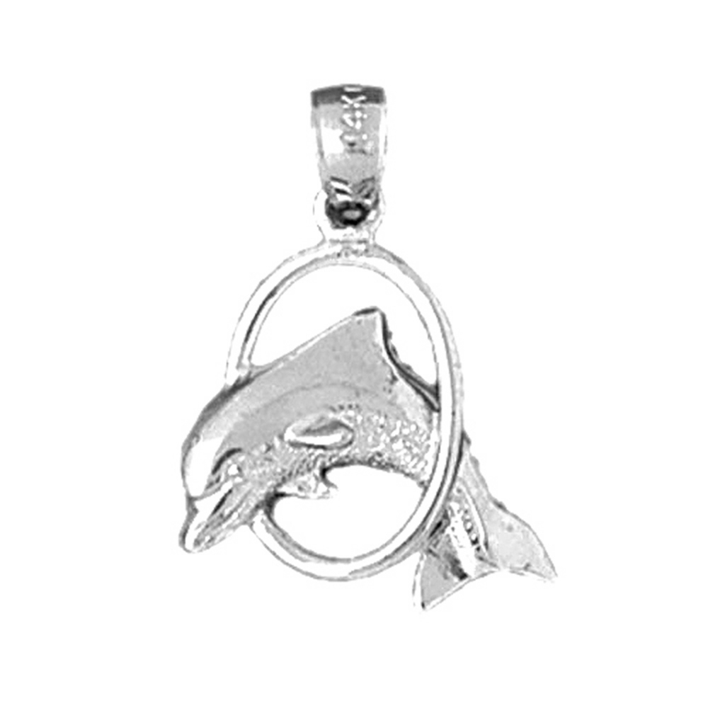 Jewels Obsession Dolphin Pendant Sterling Silver 925 Dolphin Pendant 22 mm