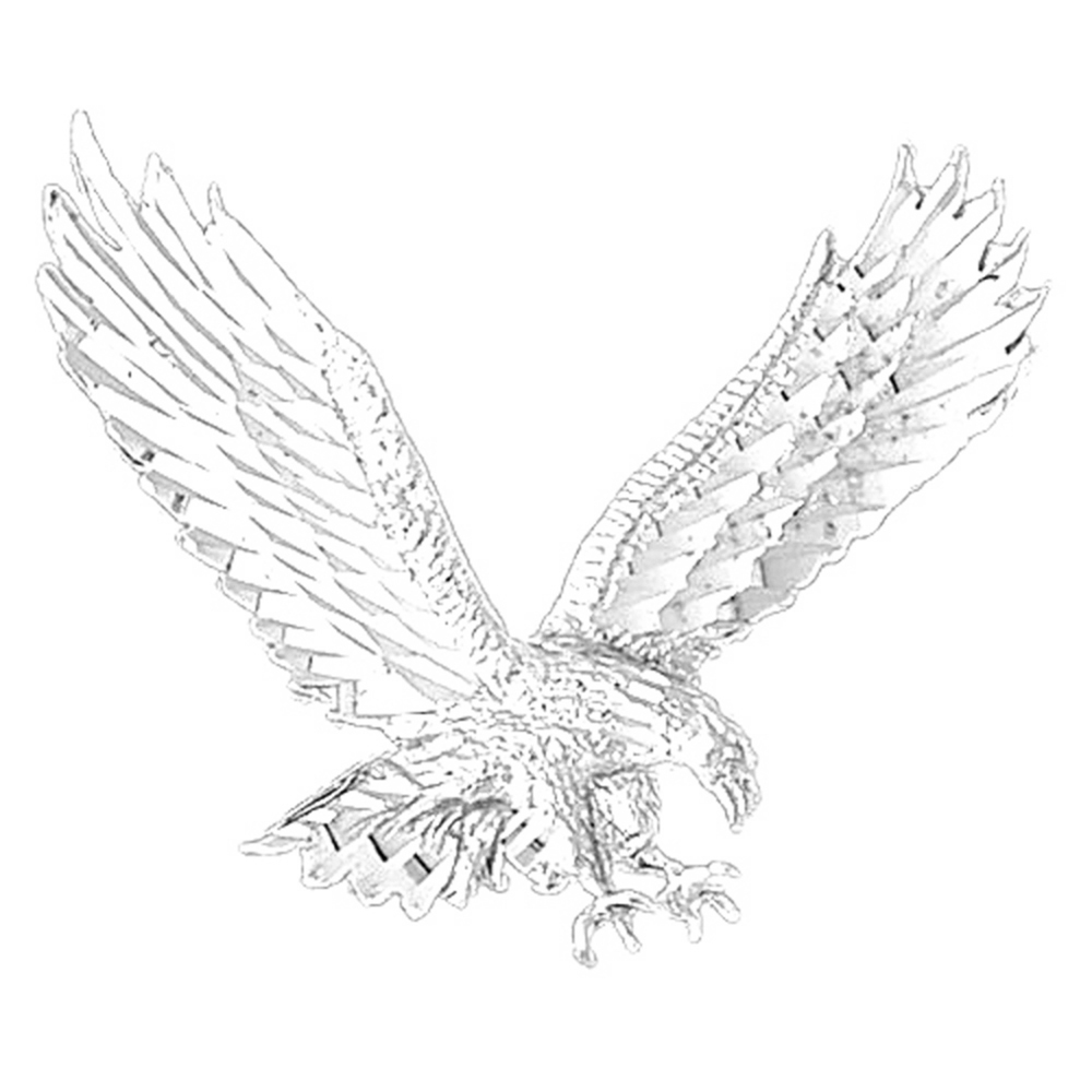 JewelsObsession Sterling Silver 36mm Eagle Charm w//Lobster Clasp